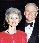 Coach Frank Broyles with his wife Barbara